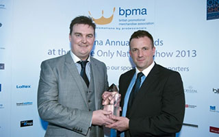 Lloyd Simpson receiving the 2013 BPMA Distributor of the Year award