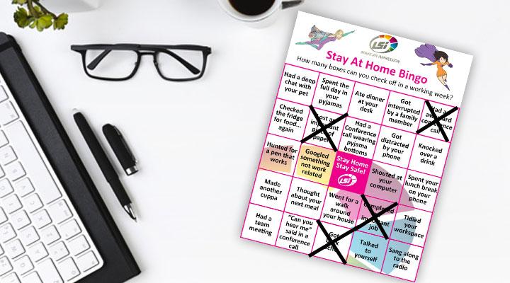 LSi Home Working Bingo Sheet