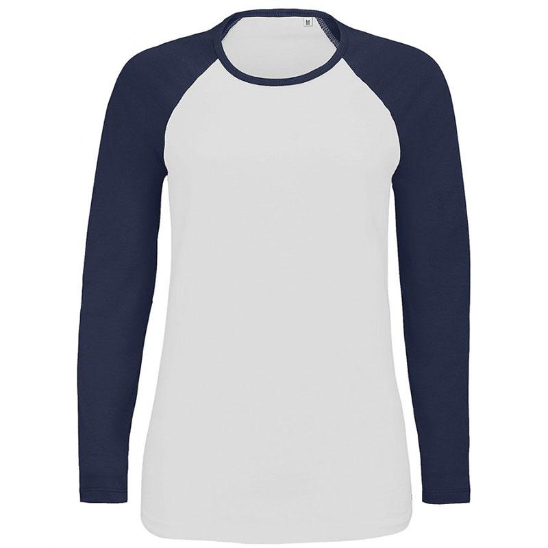 SOL'S Ladies Milky Contrast Long Sleeve T-Shirt