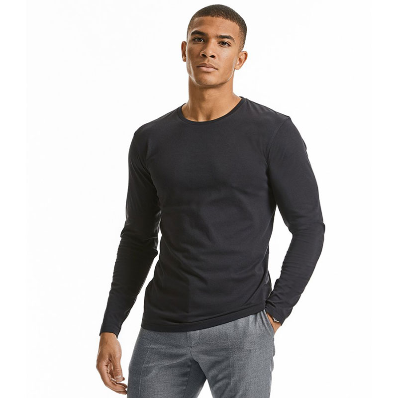Russell Pure Organic Long Sleeve T-Shirt