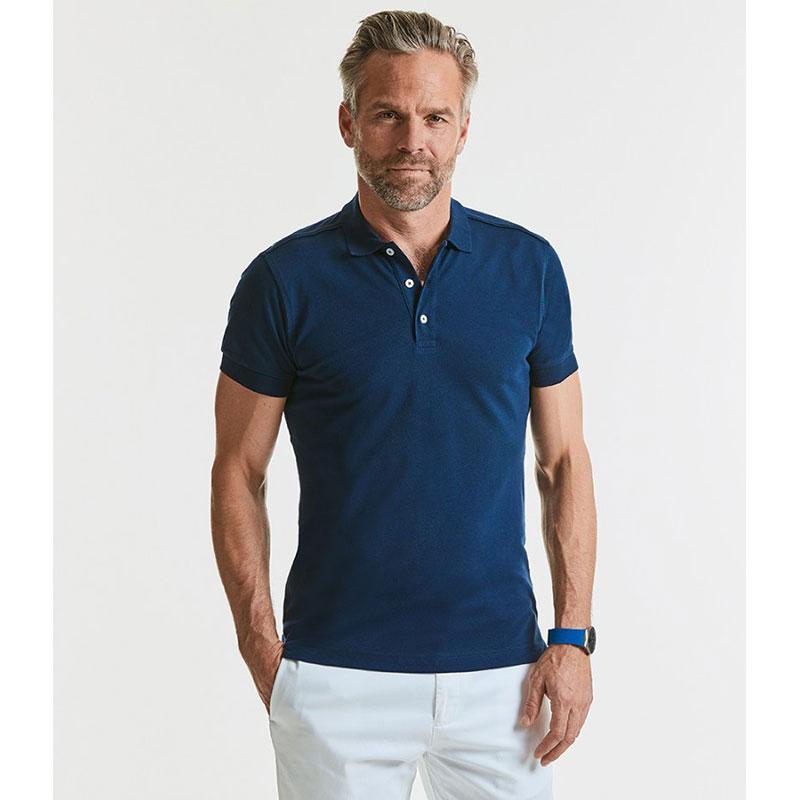 Russell Stretch Piqué Polo Shirt