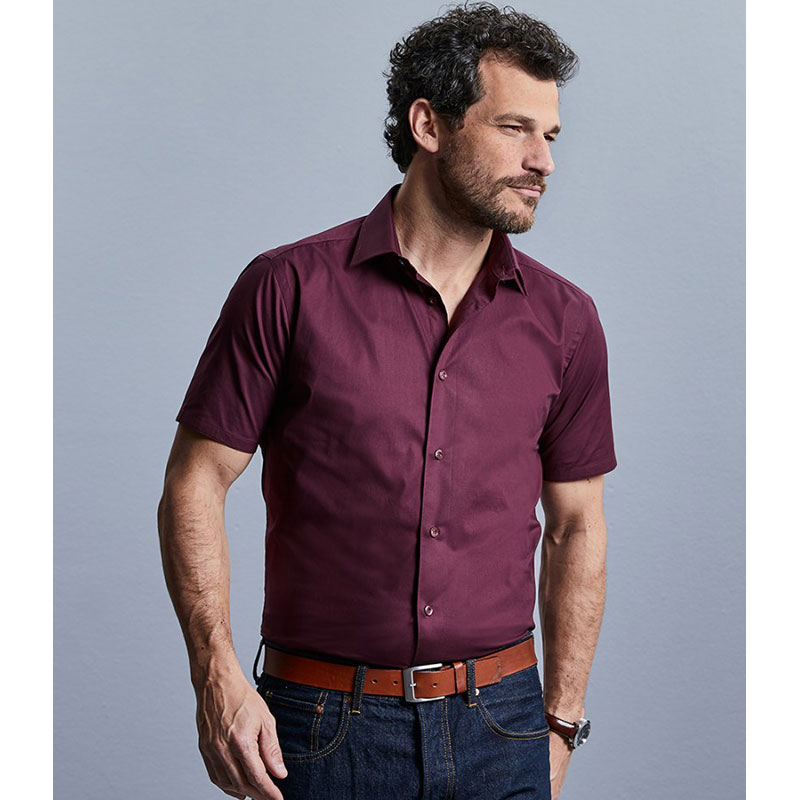 Russell Collection Short Sleeve Easy Care Fitted Shirt