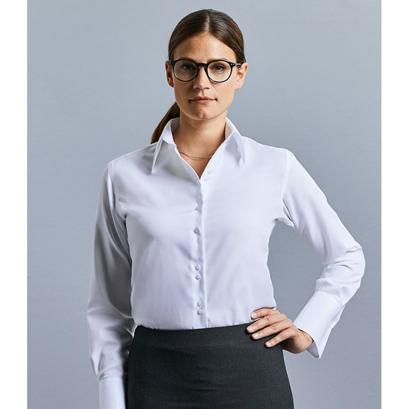 Russell Collection Ladies Long Sleeve Ultimate Non-Iron Shirt