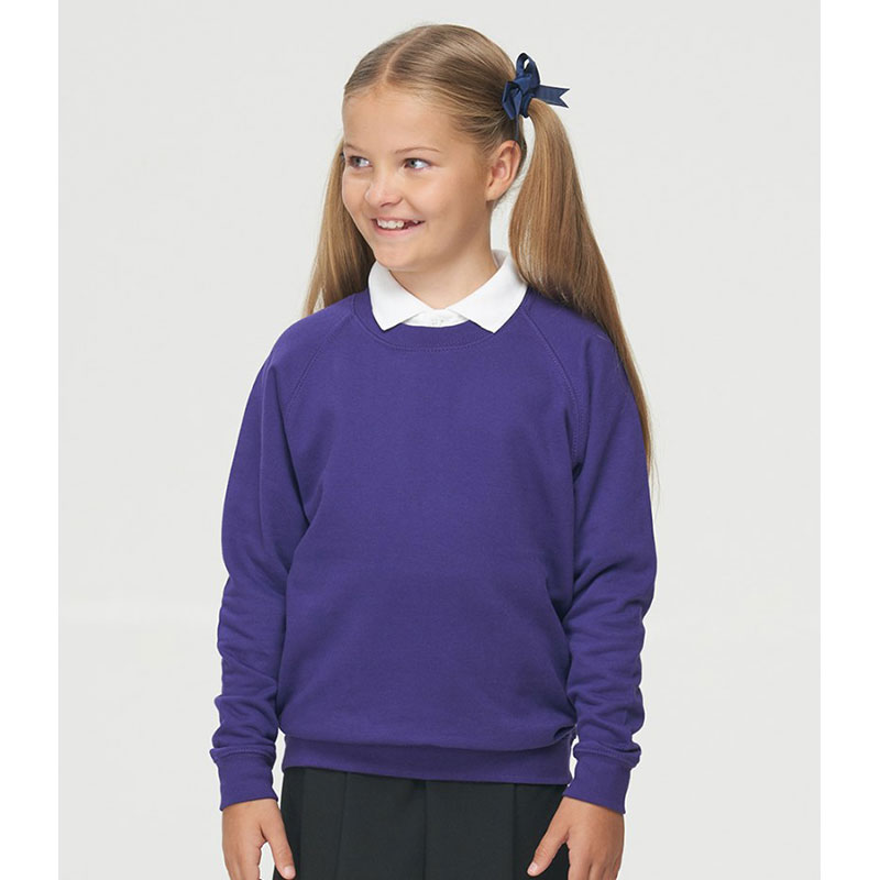 AWDis Academy Kids Raglan Sweatshirt