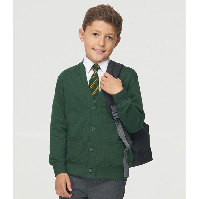 AWDis Academy Kids Sweat Cardigan