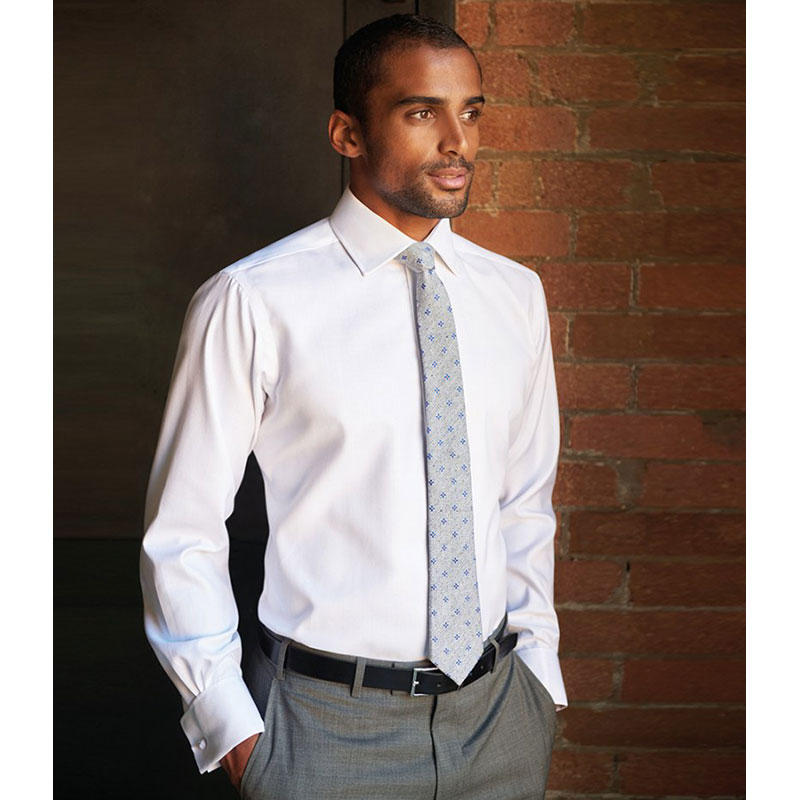 Brook Taverner Andora Long Sleeve Herringbone Shirt