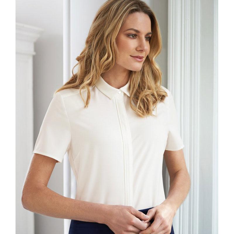 Brook Taverner Ladies Siena Short Sleeve Blouse