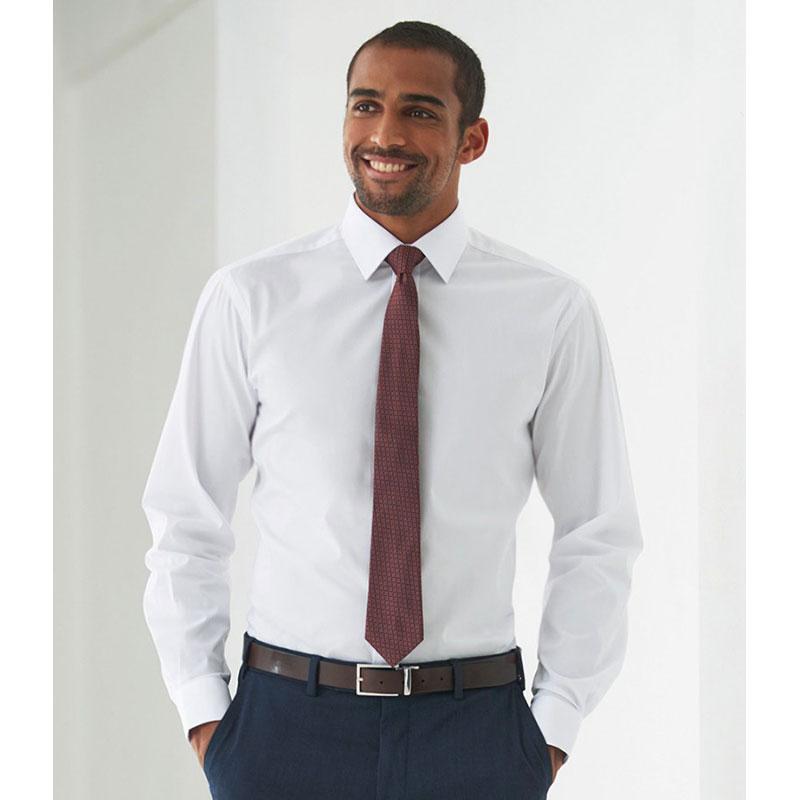 Brook Taverner Alba Long Sleeve Slim Fit Poplin Shirt
