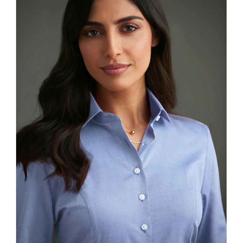 Brook Taverner Ladies Aspen Long Sleeve Oxford Shirt