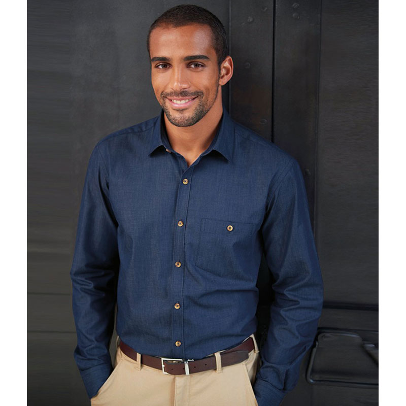 Brook Taverner Jasper Long Sleeve Chambray Shirt