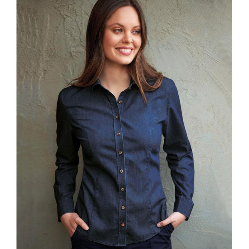 Brook Taverner Ladies Banff Long Sleeve Chambray Shirt