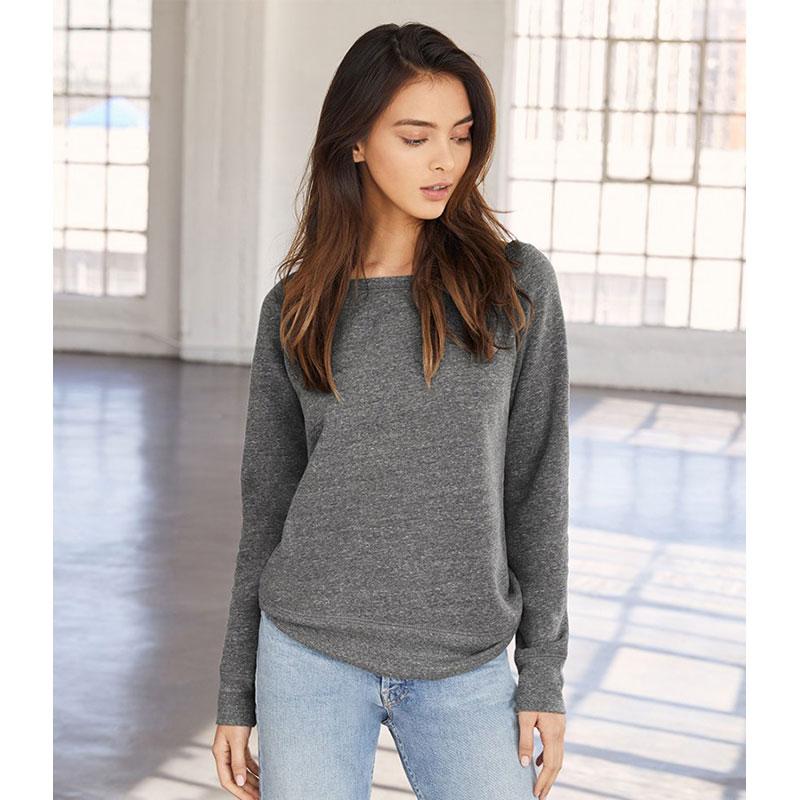 Bella Ladies Tri-Blend Sponge Fleece Wide Neck Sweatshirt