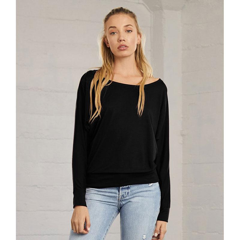 Bella Ladies Flowy Long Sleeve T-Shirt