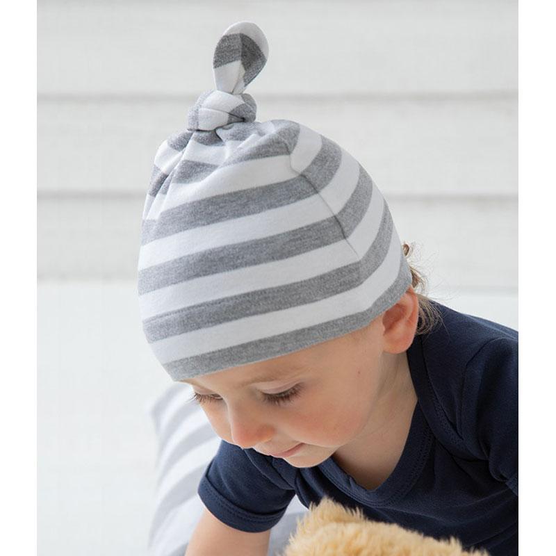 BabyBugz Baby Stripy Knotted Hat