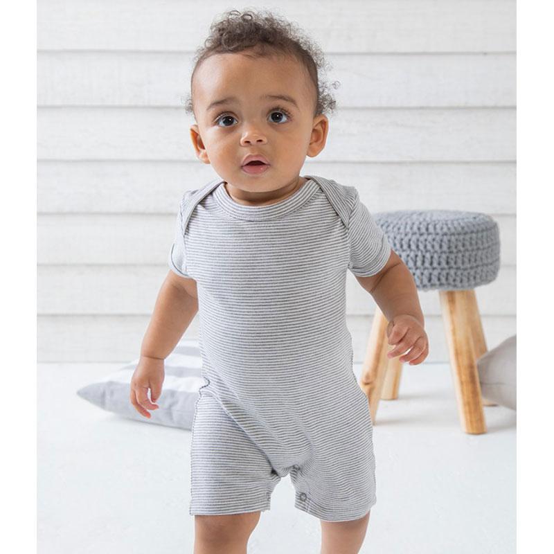 BabyBugz Baby Short Sleeve Striped Bodysuit
