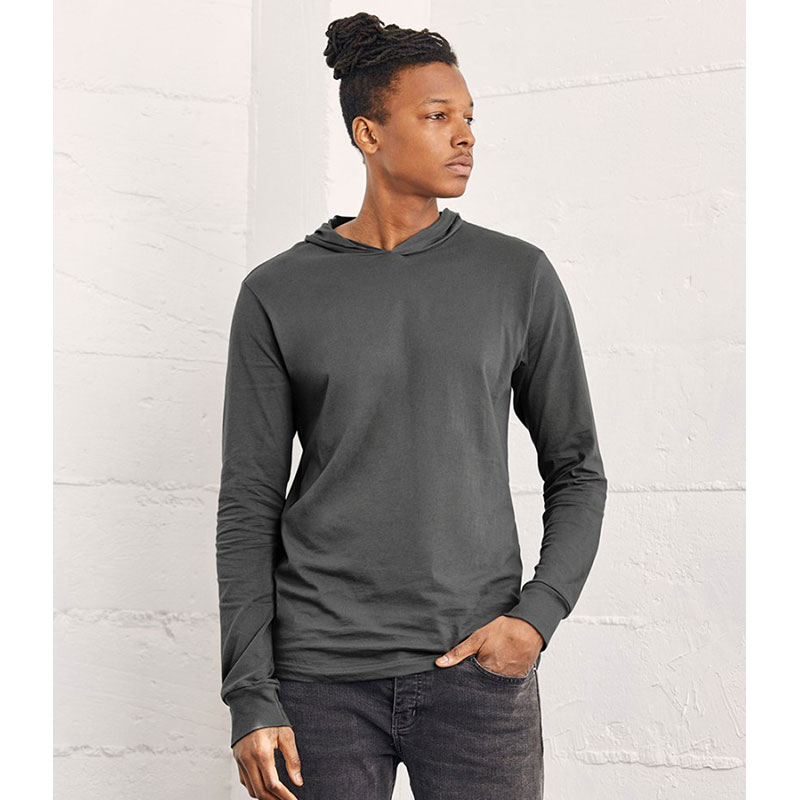Canvas Unisex Long Sleeve Jersey Hooded T-Shirt
