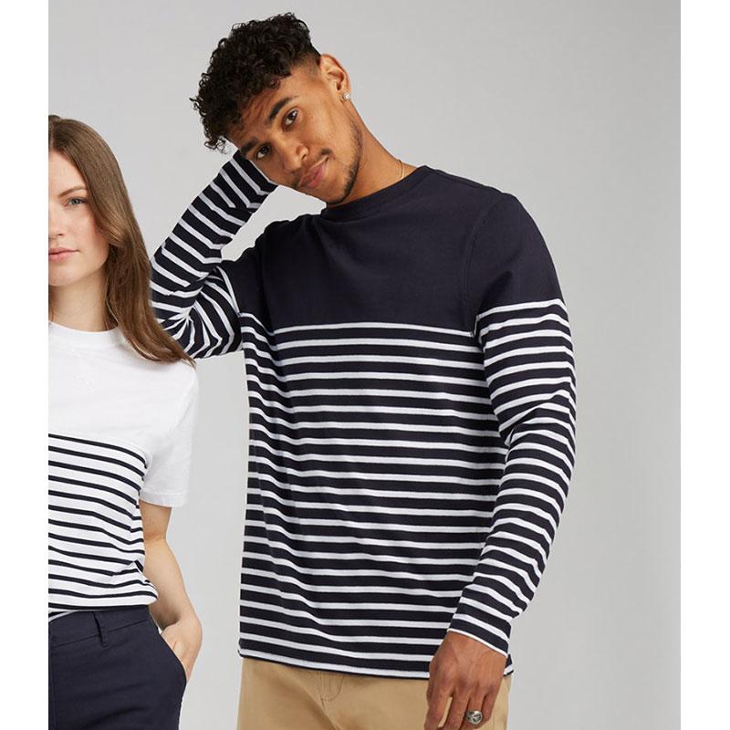 Front Row Unisex Long Sleeve Breton Striped T-Shirt