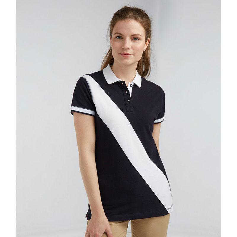 Front Row Ladies Diagonal Stripe Cotton Piqué Polo Shirt