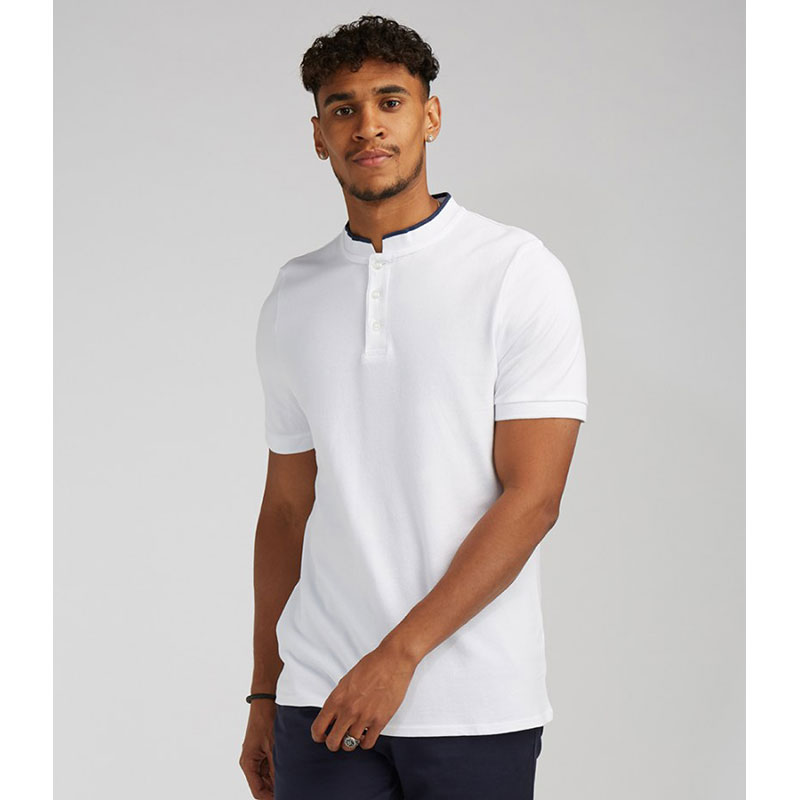 Front Row Stand Collar Stretch Polo Shirt