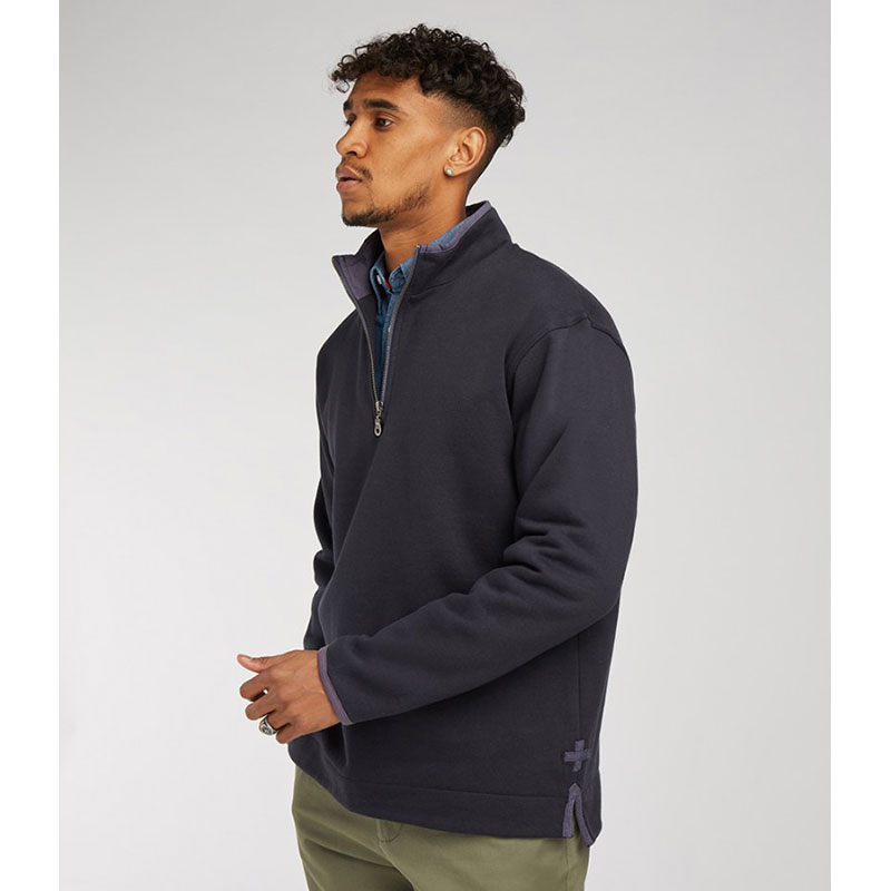 Front Row Collection Super Soft Zip Neck Sweatshirt