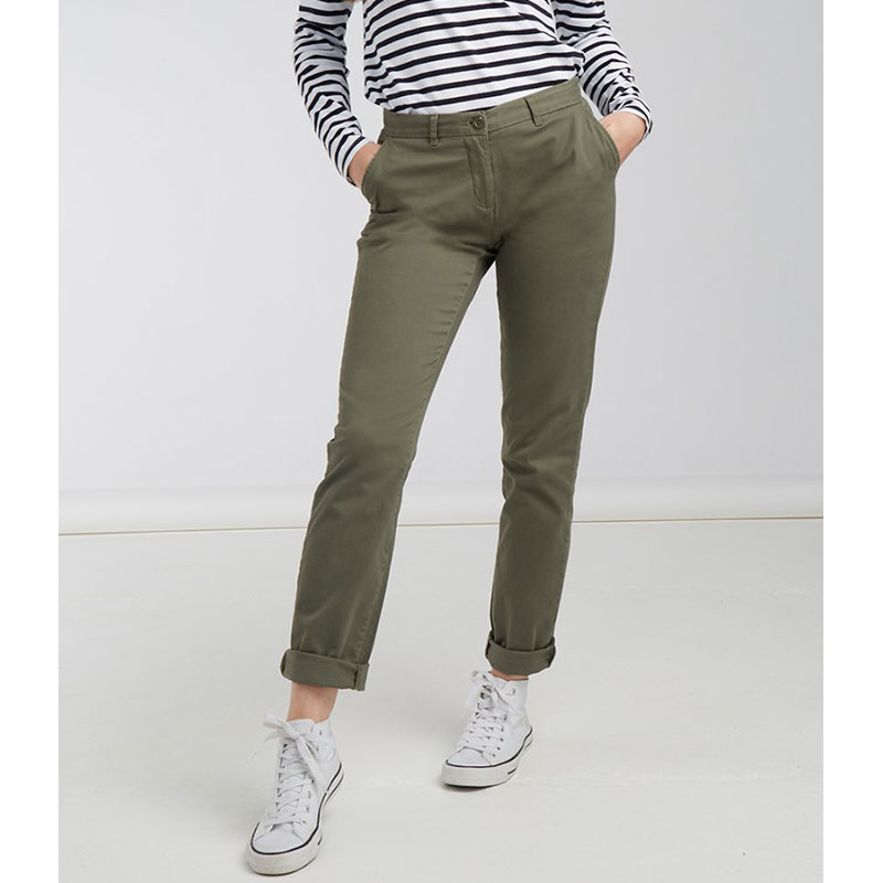 Front Row Ladies Stretch Chino Trousers