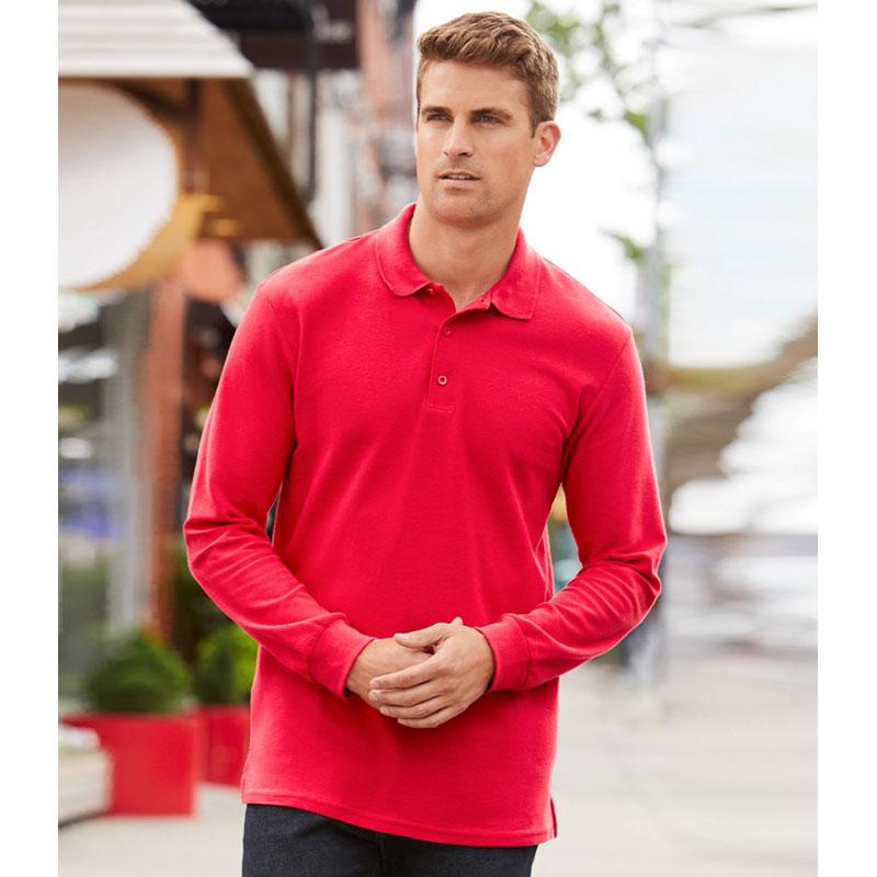 Gildan Long Sleeve Premium Cotton® Double Piqué Polo Shirt