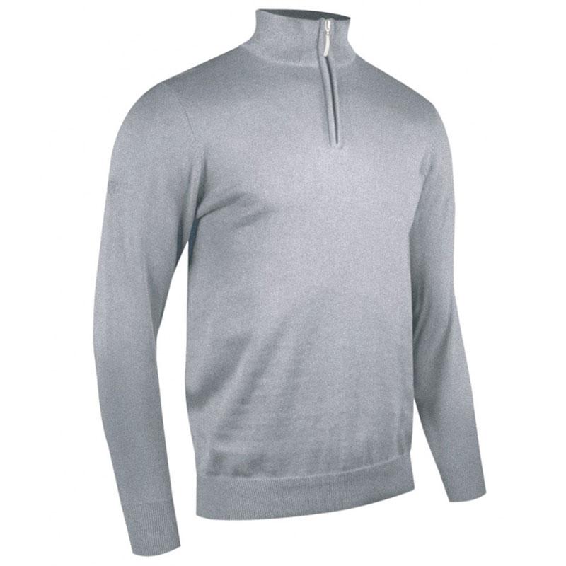 Glenmuir Zip Neck Cotton Sweater