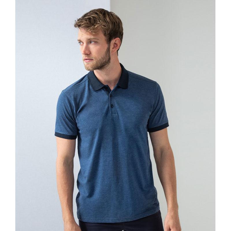Henbury Contrast Tri-Blend Jersey Polo Shirt