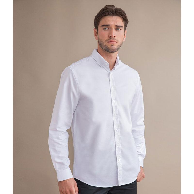 Henbury Modern Long Sleeve Classic Fit Oxford Shirt