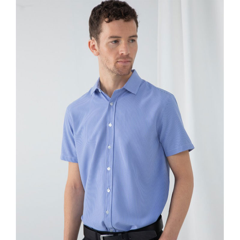 Henbury Gingham Short Sleeve Shirt