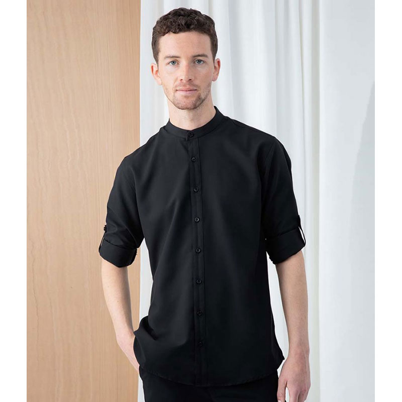Henbury Mandarin Roll Sleeve Anti-Bac Wicking Shirt