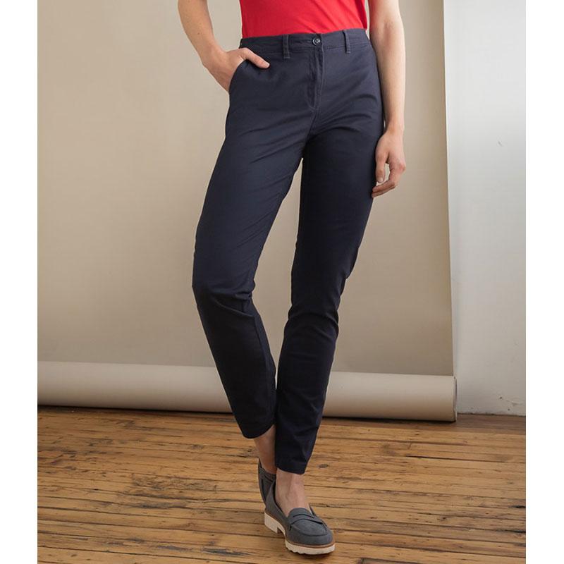 Henbury Ladies Stretch Chino Trousers