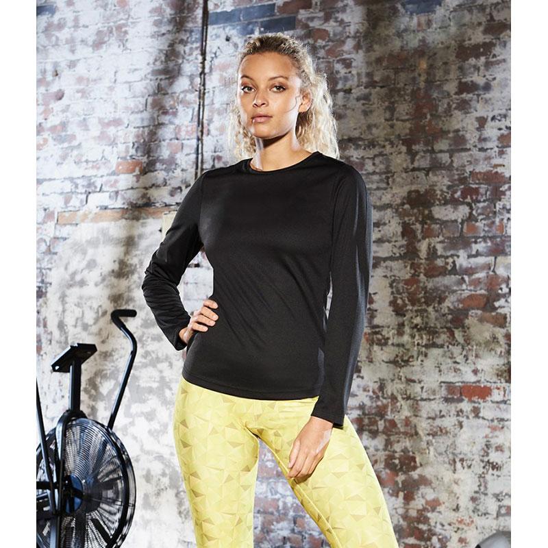 AWDis Ladies Cool Long Sleeve T-Shirt
