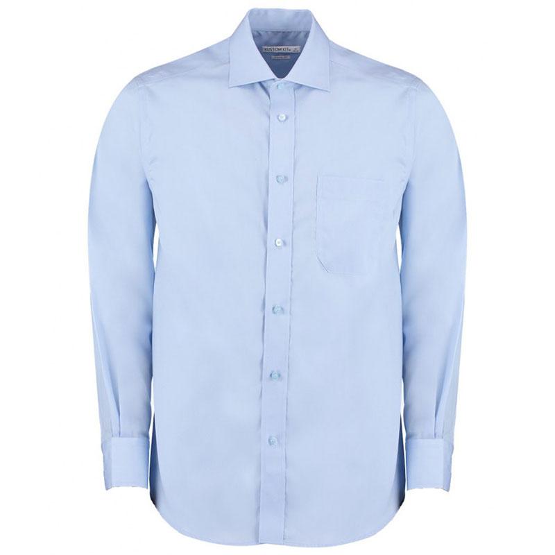 Kustom Kit Premium Long Sleeve Classic Fit Non-Iron Shirt