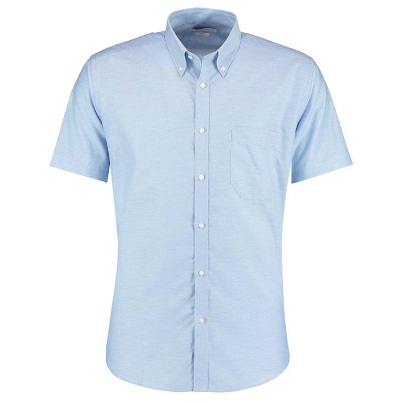 Kustom Kit Short Sleeve Slim Fit Oxford Shirt