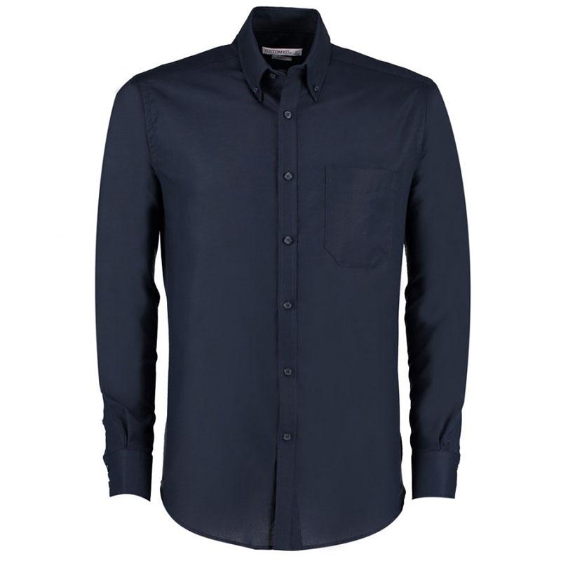 Kustom Kit Long Sleeve Slim Fit Workwear Oxford Shirt