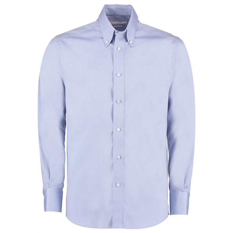 Kustom Kit Premium Long Sleeve Tailored Oxford Shirt