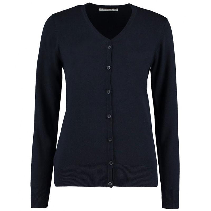Kustom Kit Ladies Arundel Cotton Acrylic V Neck Cardigan