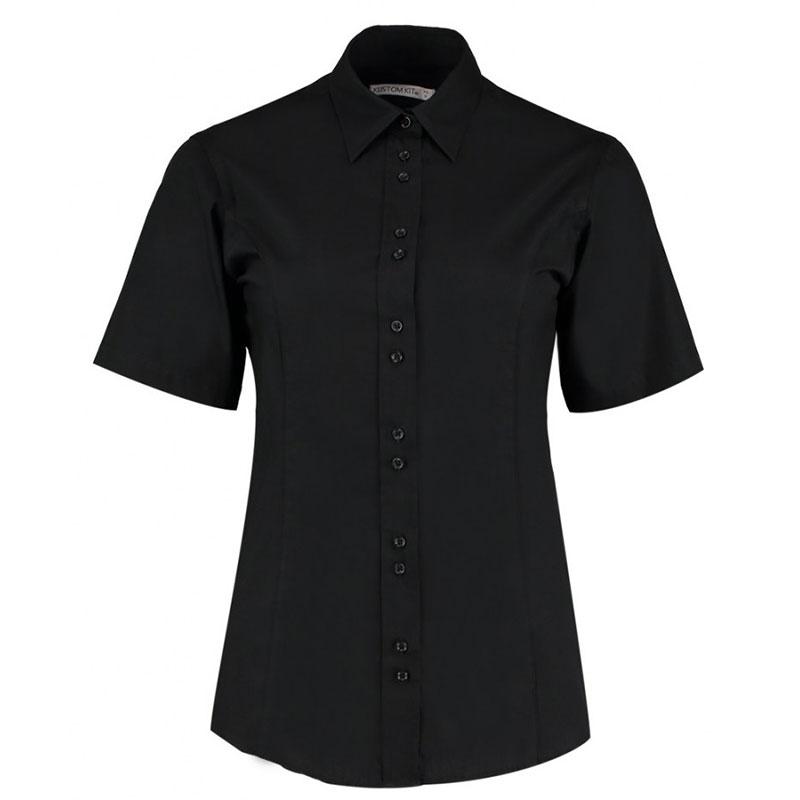 Kustom Kit Ladies Short Sleeve Tailored City Business Shirt