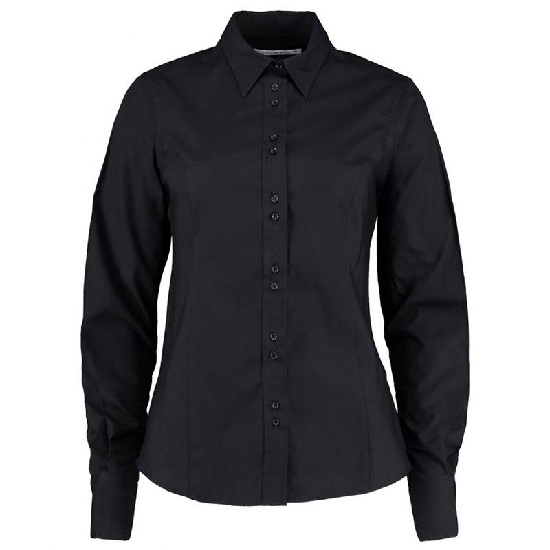 Kustom Kit Ladies Long Sleeve Tailored City Business Shirt