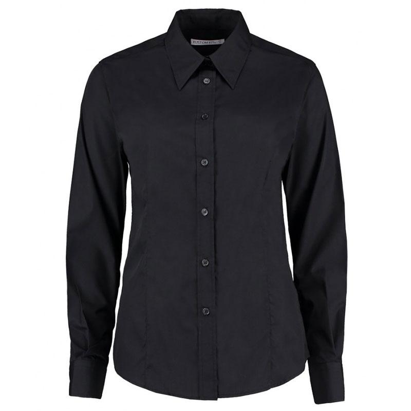 Kustom Kit Ladies Long Sleeve Classic Fit Workforce Shirt