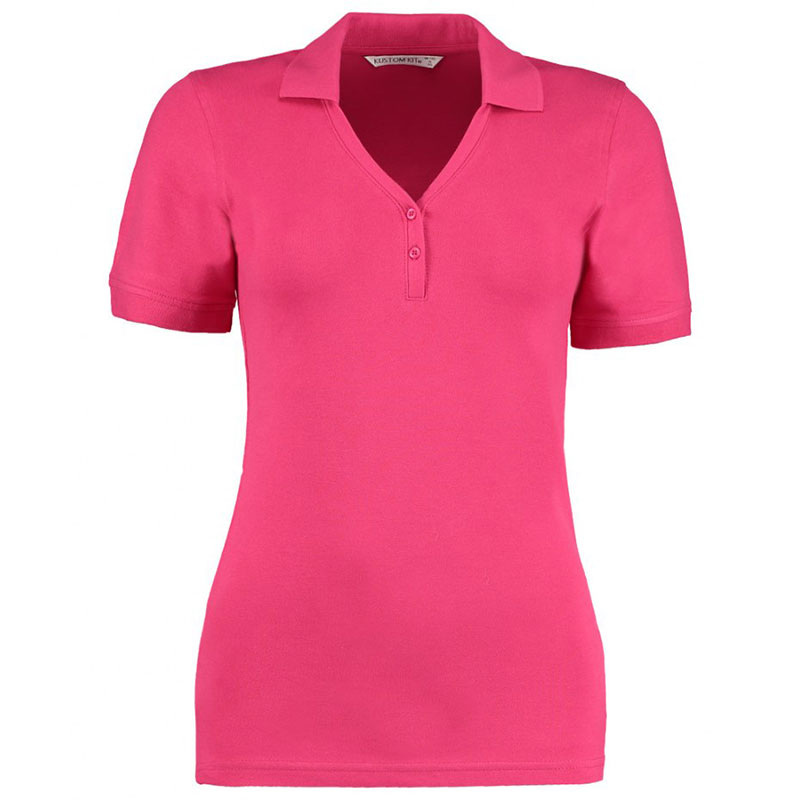 Kustom Kit Sophia Comfortec® V Neck Polo Shirt