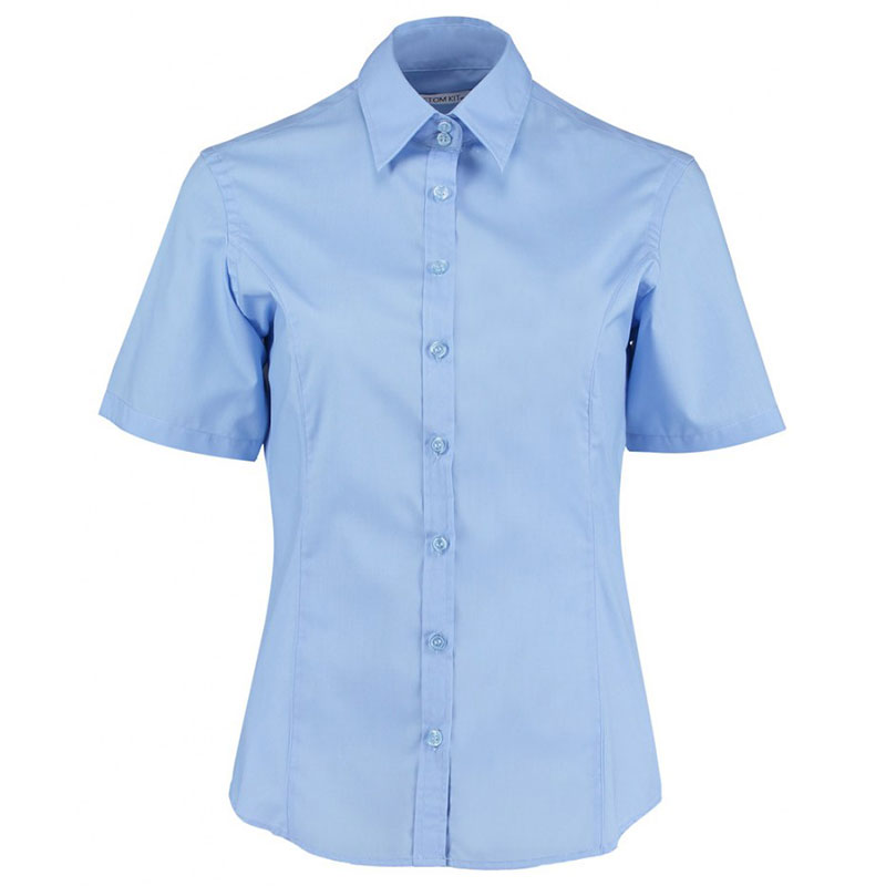 Kustom Kit Ladies Short Sleeve Tailored Business Shirt