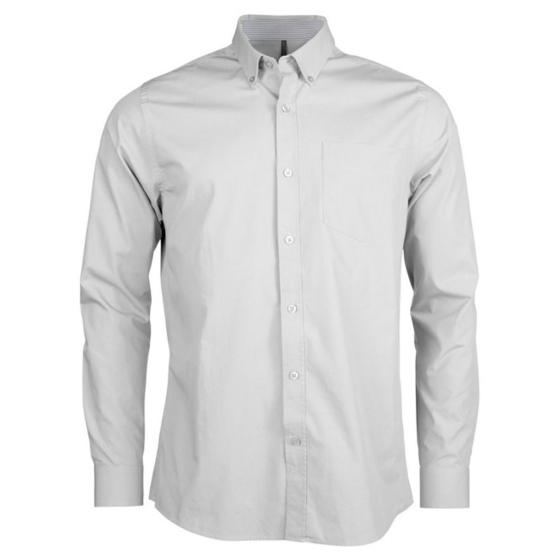 Kariban Long Sleeve Washed Poplin Shirt