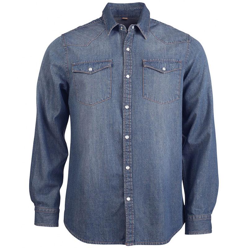Kariban Long Sleeve Denim Shirt