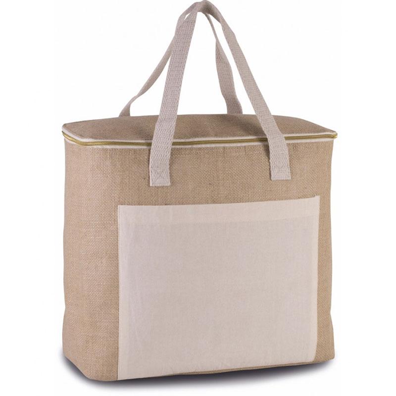 Kimood Large Jute Cool Bag
