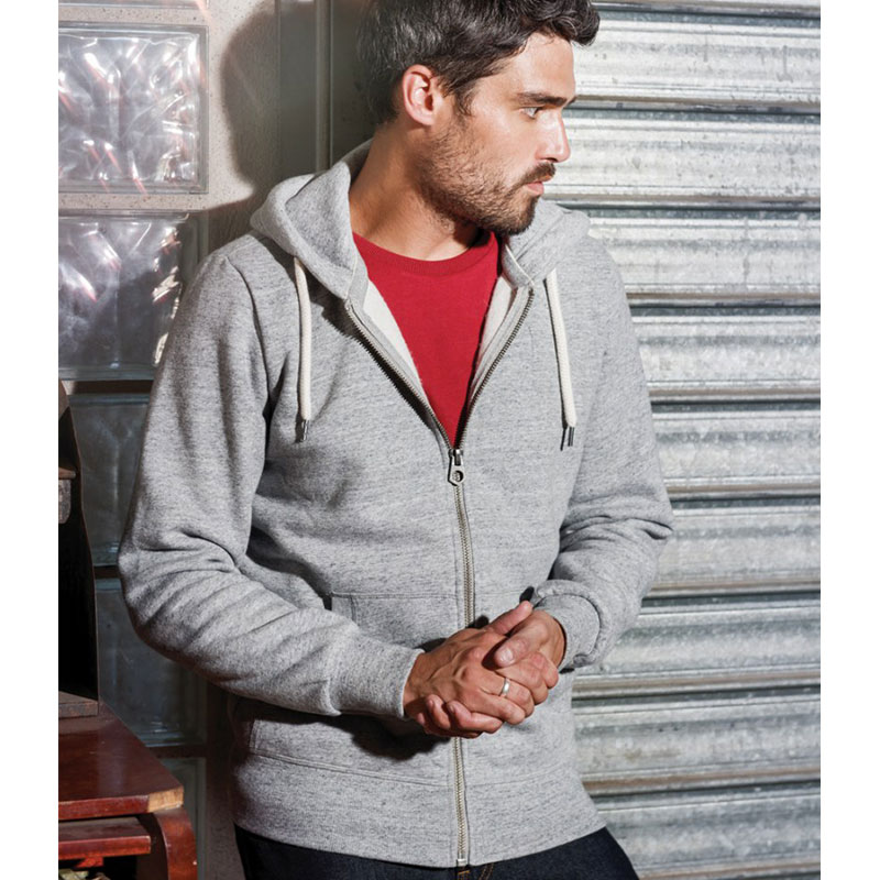 Kariban Vintage Zip Hooded Sweatshirt