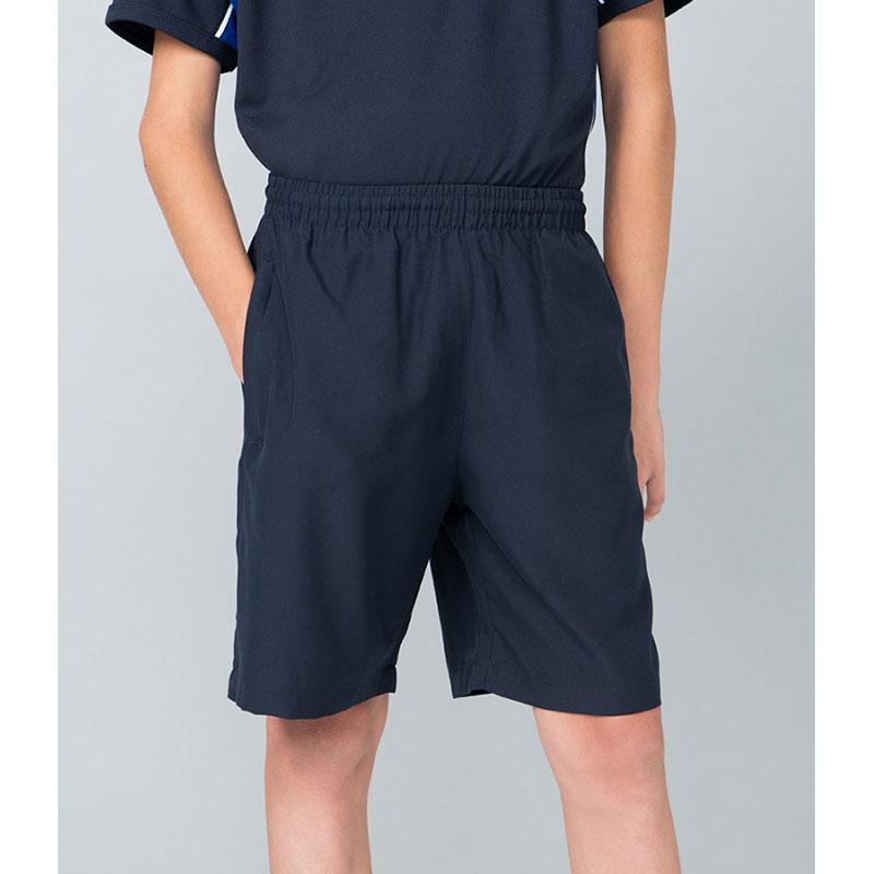 Finden and Hales Kids Plain Microfibre Shorts