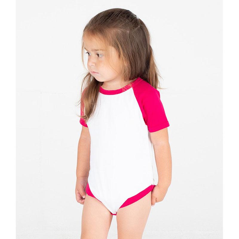 Larkwood Essential Short Sleeve Baby Baseball Bodysuit