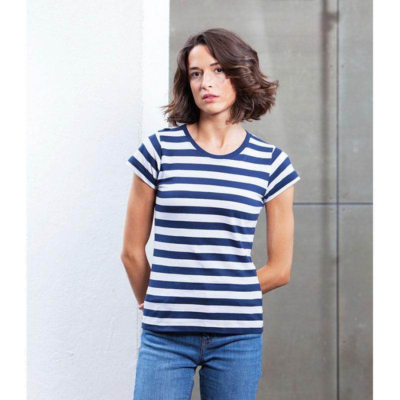 Mantis Ladies Stripy T-Shirt